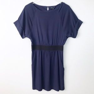 Theory Navy Blue Silk Dress